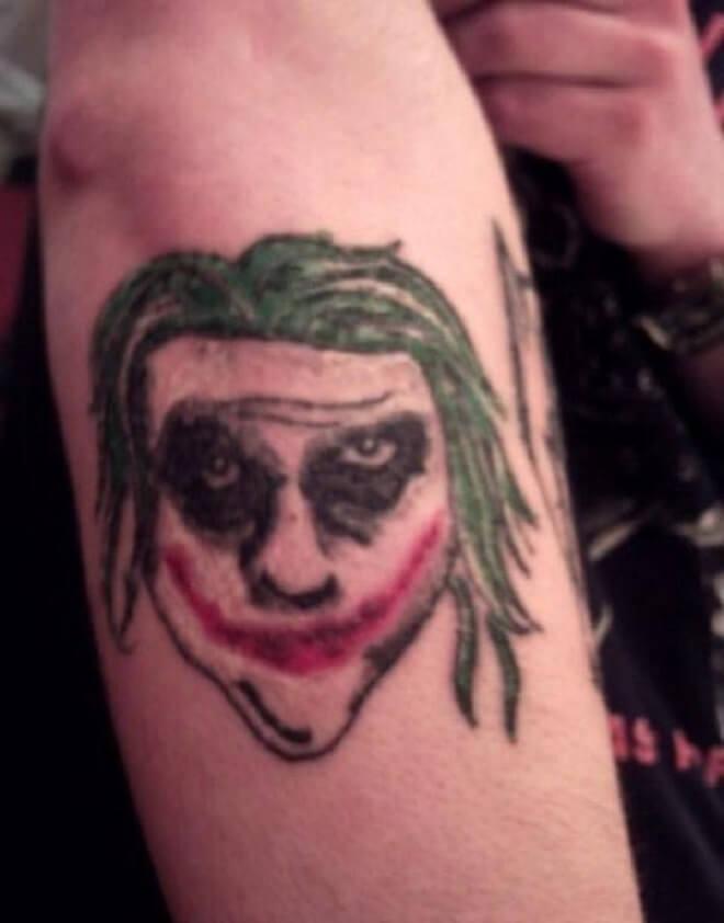 Joker Bad Tattoo