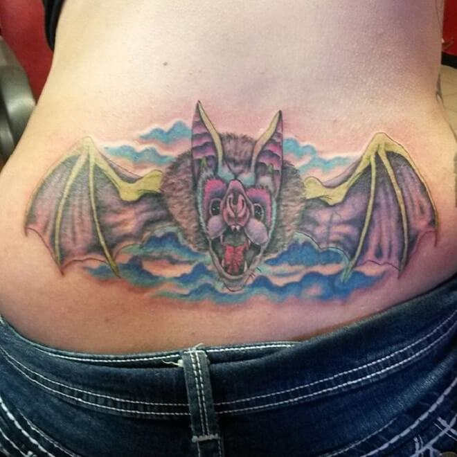 Lady Lower Back Tattoo
