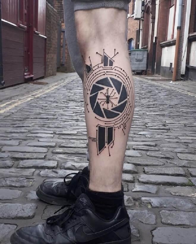 Leg Circuit Tattoo