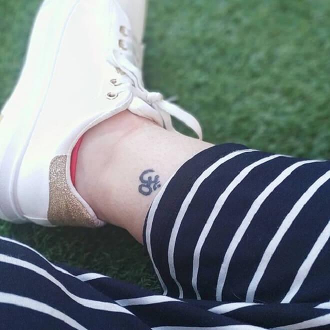 Leg Om Tattoo