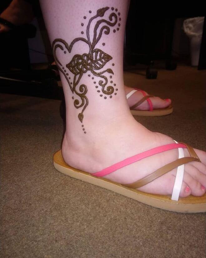 Leg Temporary Tattoo