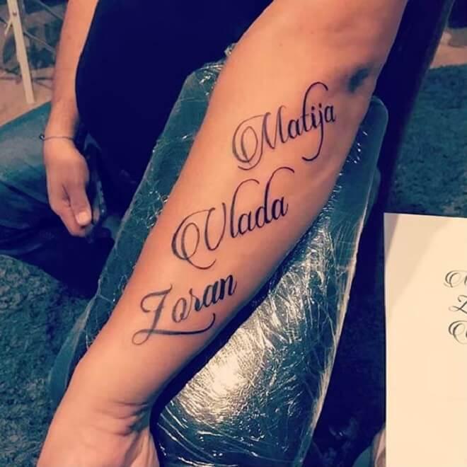 Letters Tattoo Art