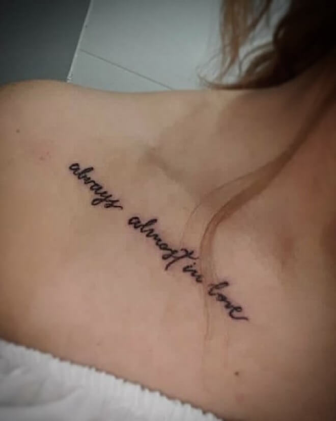Letters Tattoo for Women