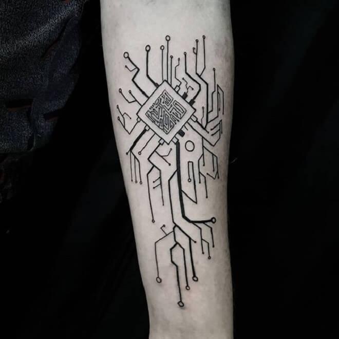 Line Circuit Tattoo