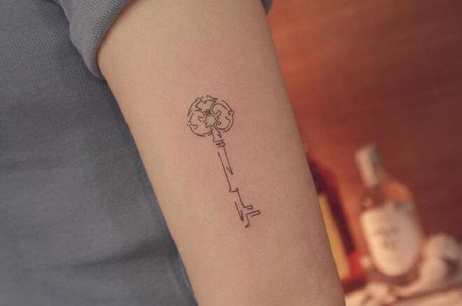 Line Key Tattoo