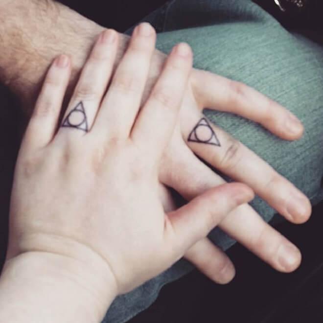 Line Wedding Ring Tattoo