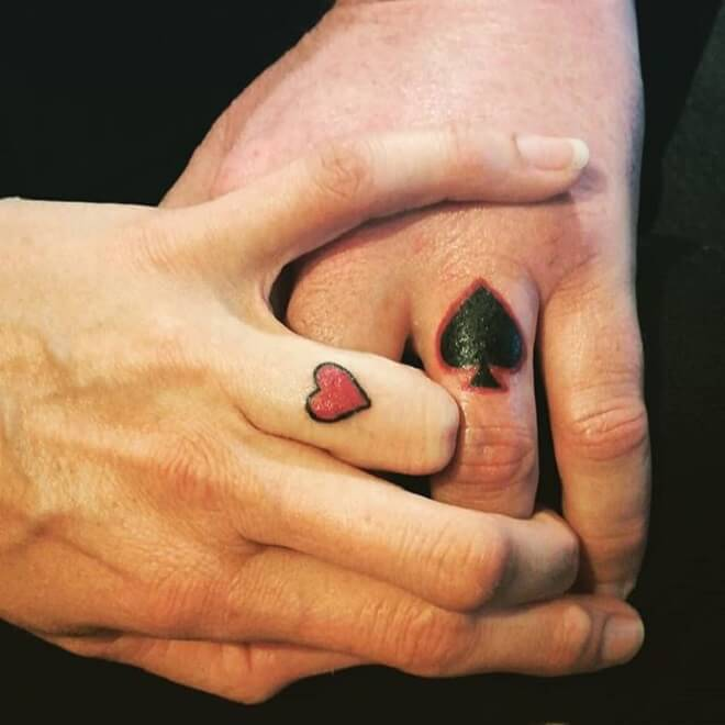 Love Wedding Ring Tattoo