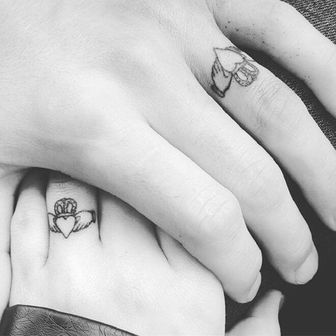 Marriage Wedding Ring Tattoos