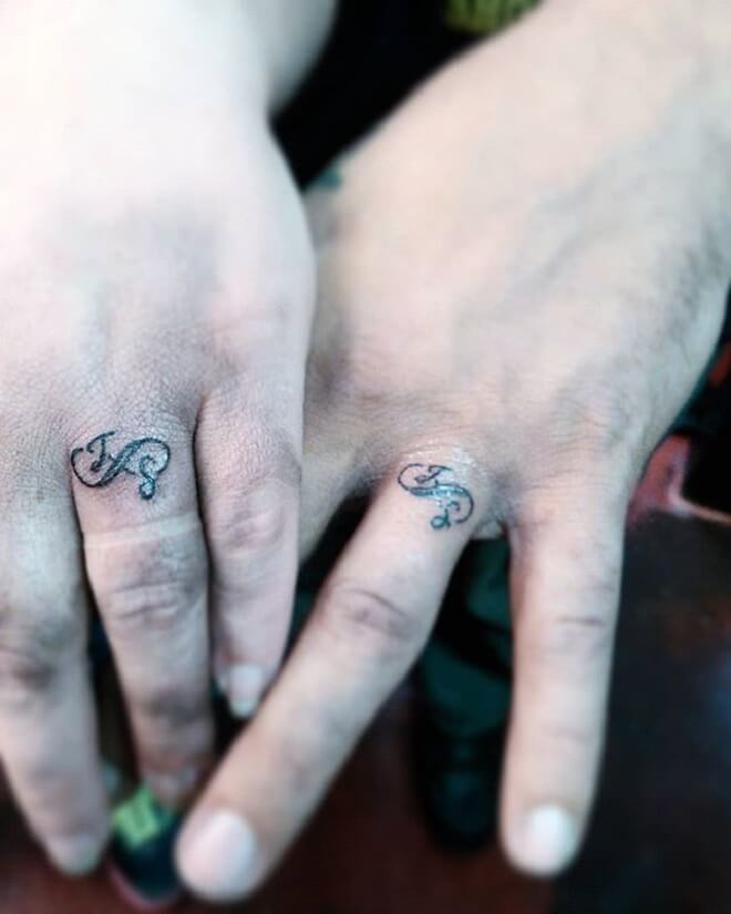 Matching Wedding Ring Tattoo