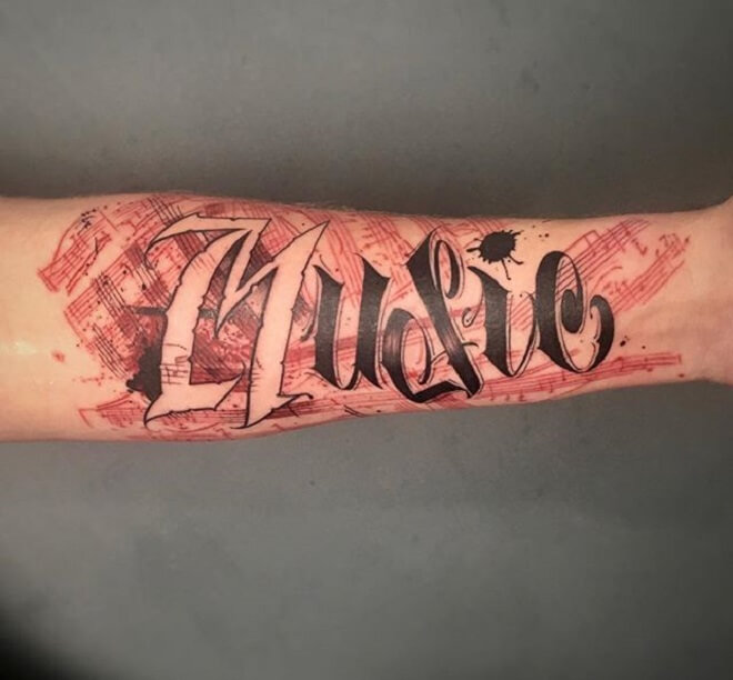 Music Letters Tattoo