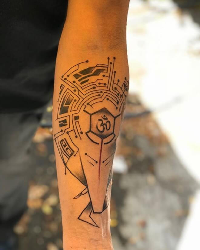 Om Circuit Tattoo