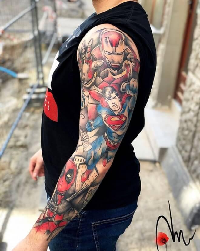 Perfect Superman Tattoo