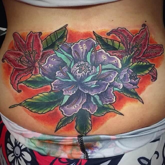 Popular Lower Back Tattoo