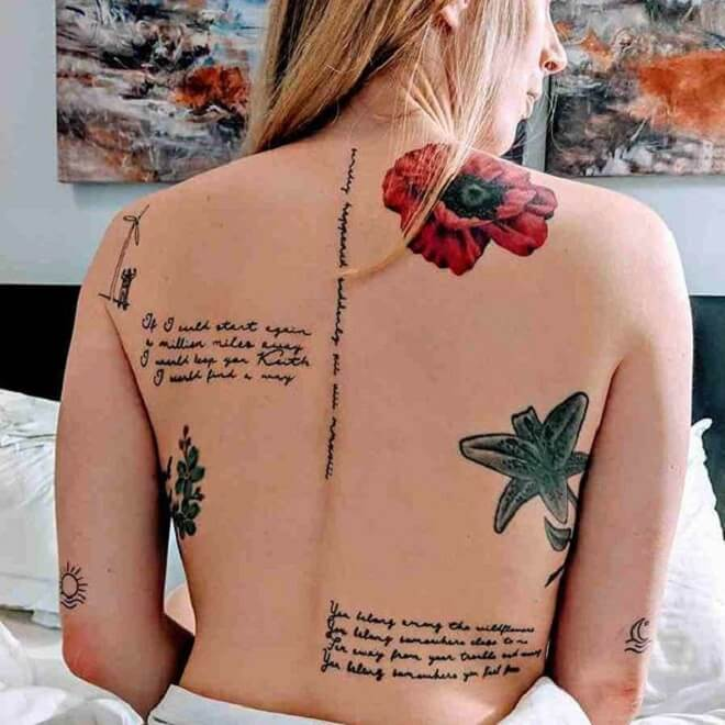 Quotes Back Tattoo