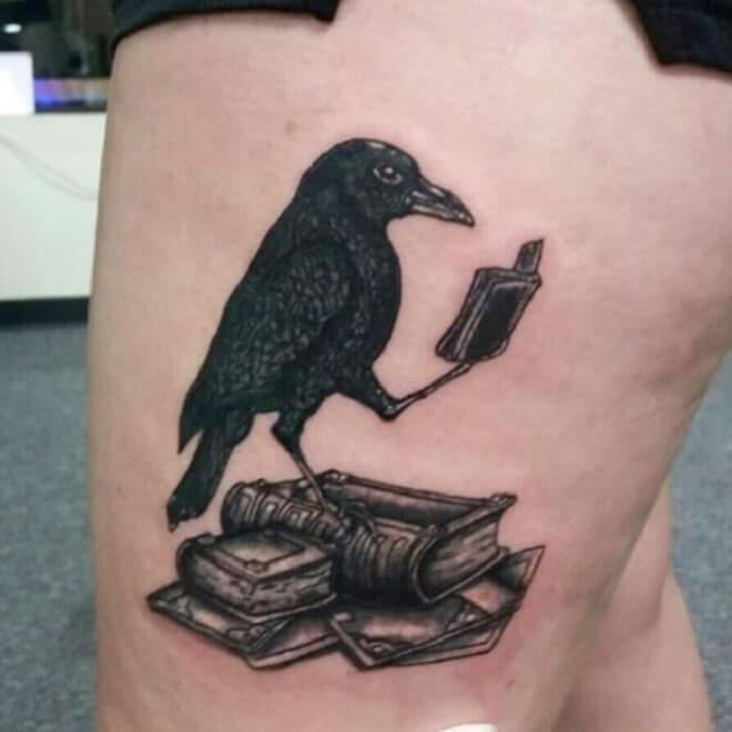Raven Bird Tattoo