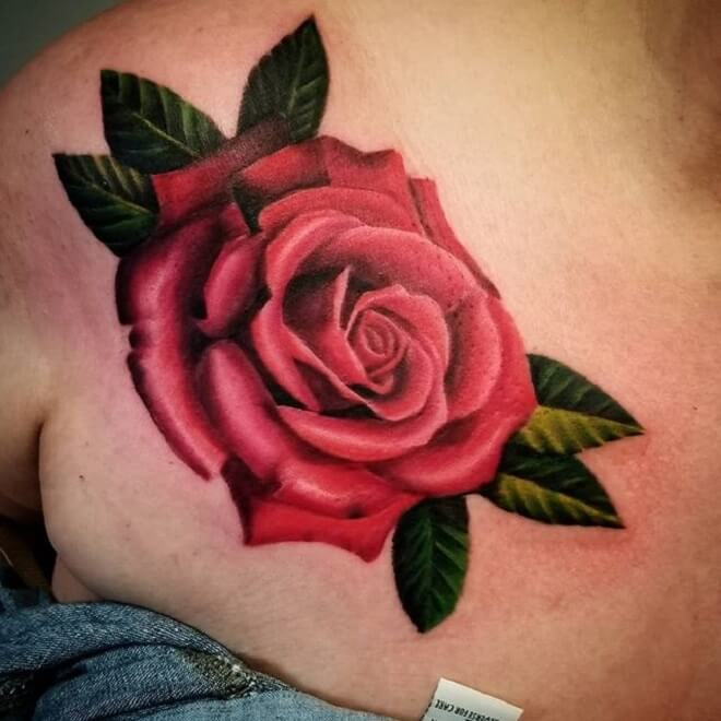 Rose Colorful Tattoo