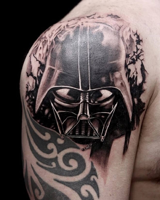 Shoulder Darth Vader Tattoo