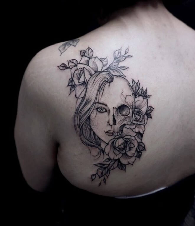 Skull Back Tattoo Ideas