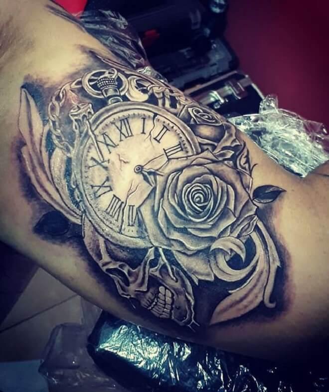 Skull Clock Tattoo