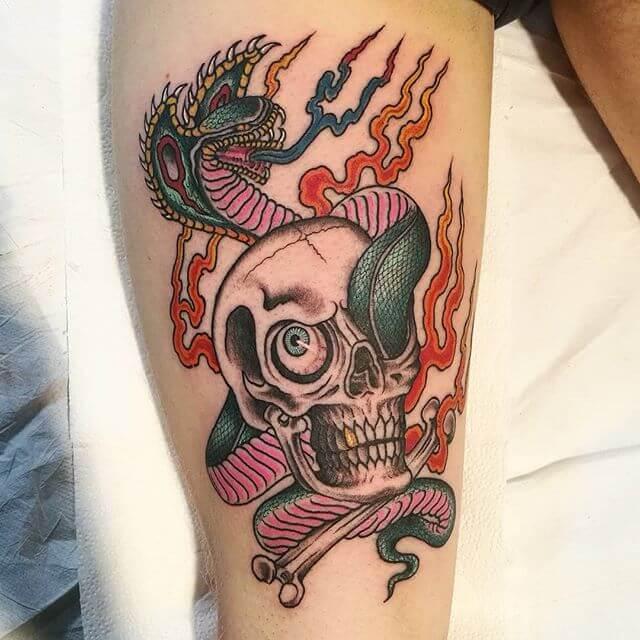 Skull Traditional Tattoo