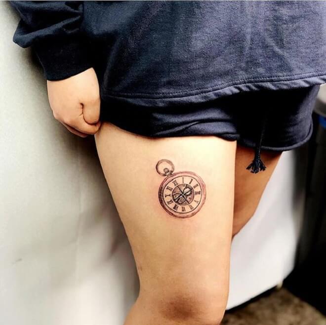 Small Clock Tattoo