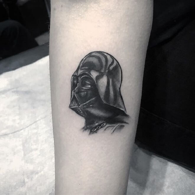 Small Darth Vader Tattoo