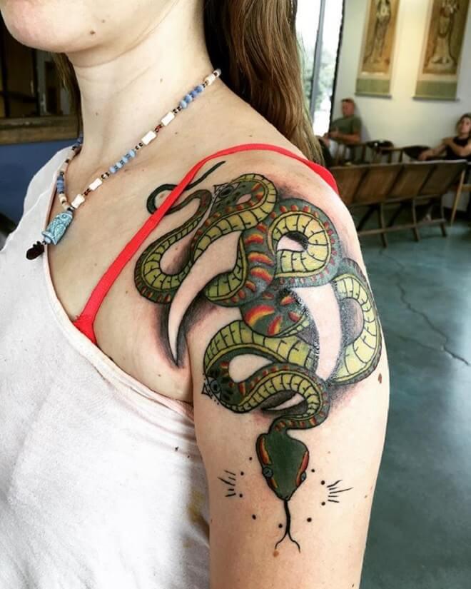 Snake Shoulder Tattoo
