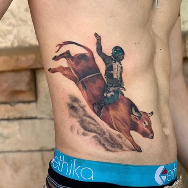 Stunning Bull Tattoo