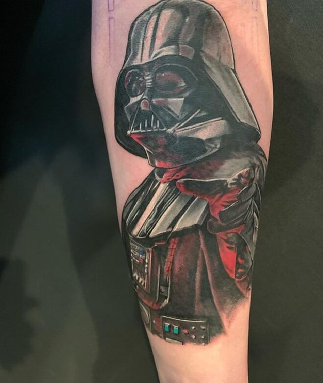 96d6a6557ec0f Top 30 Darth Vader Tattoos | Stunning Darth Vader Tattoo Designs & Idea