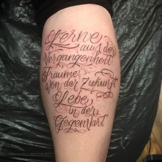 Super Letters Tattoo