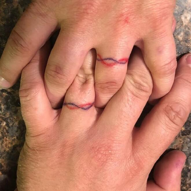 Super Wedding Ring Tattoos