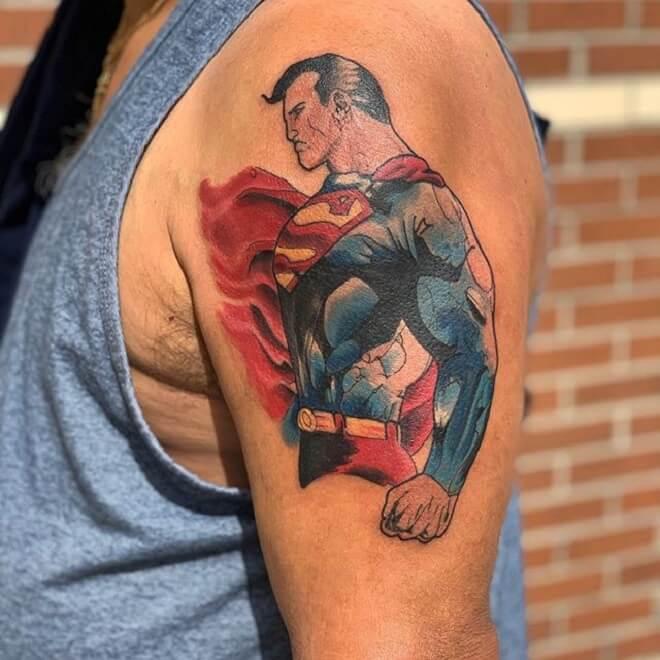 Superman Tattoo Artist
