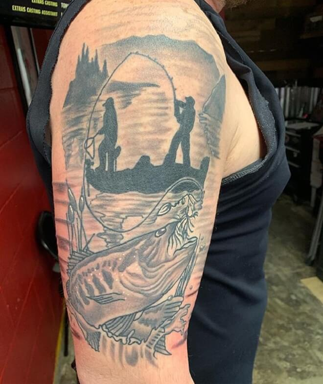 Supreme Fishing Tattoo