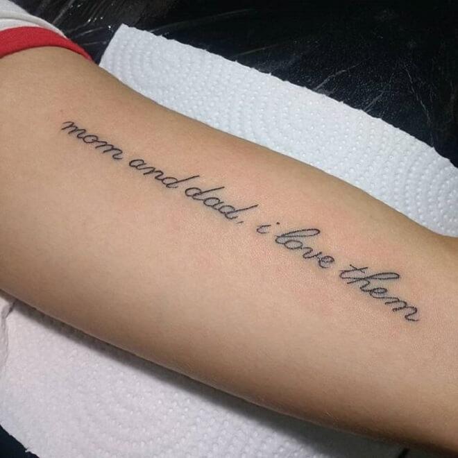 Supreme Letters Tattoo