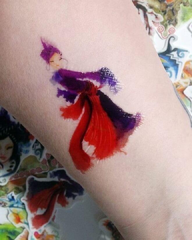 Temporary Color Tattoo