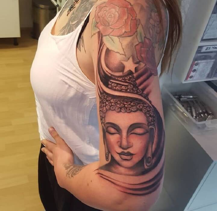 177a1e628db7a Top 30 Buddha Tattoos | Perfect Buddha Tattoo Designs & Ideas