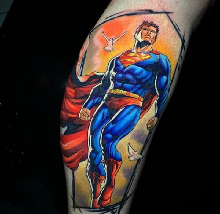1be79d4e2 Top 30 Superman Tattoos | Incredible Superman Tattoo Designs & Ideas