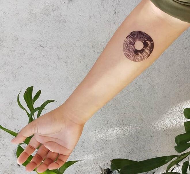 Wave Temporary Tattoo