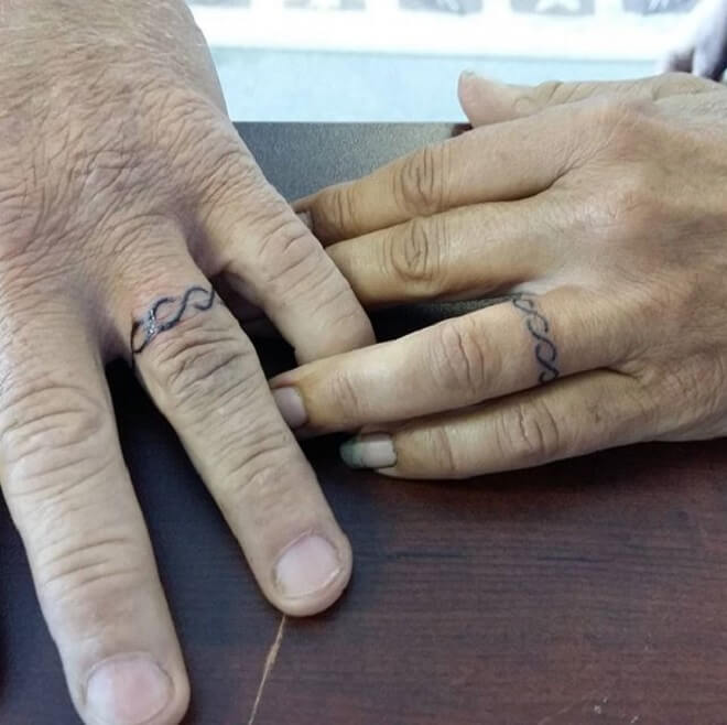 Wedding Ring Tattoo Art