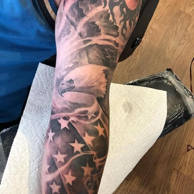Angle Patriotic Tattoo