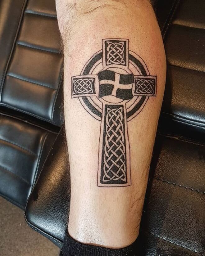 Amazing Celtic Cross Tattoo