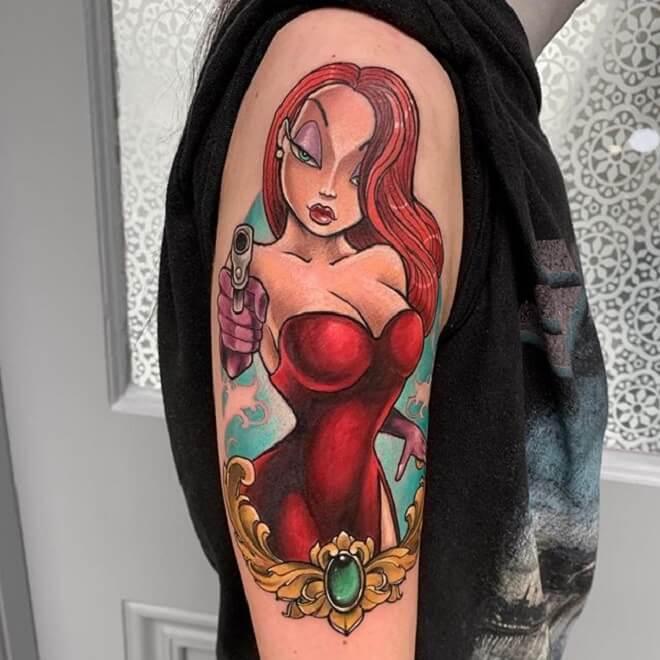 Amazing Jessica Rabbit Tattoo