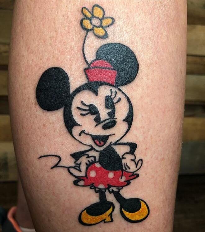 Amazing Minnie Mouse Tattoo