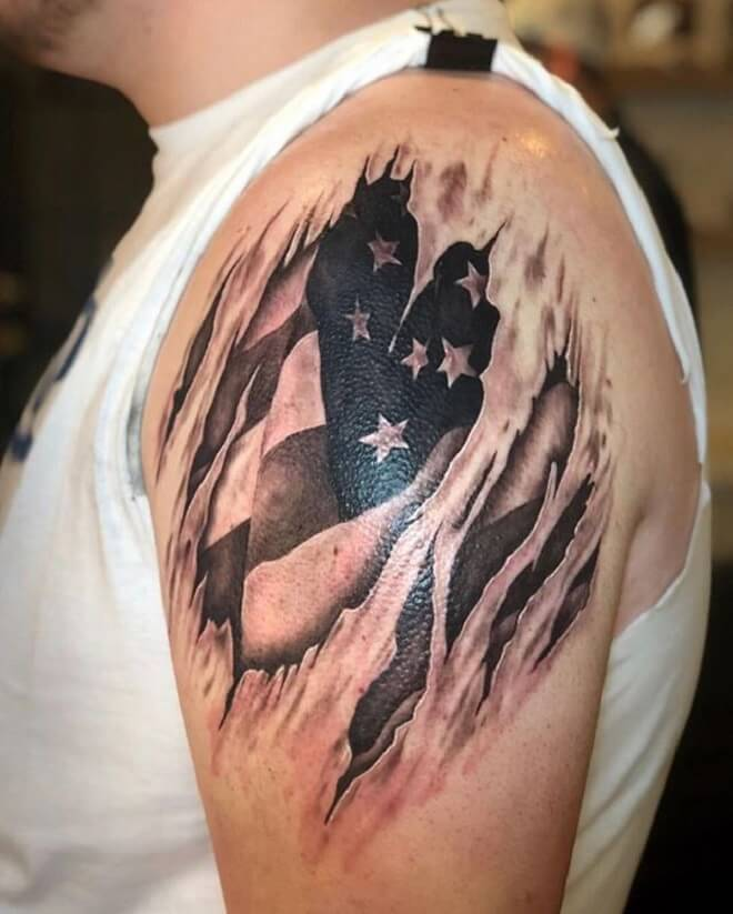 Amazing Patriotic Tattoo