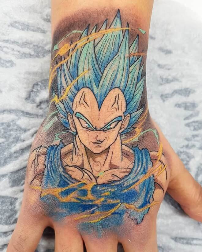 Amazing Vegeta Tattoo