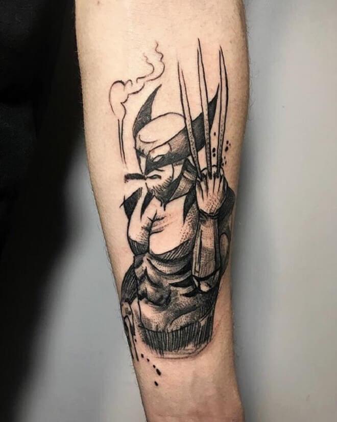 Amazing Wolverine Tattoo