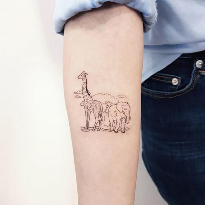 Animal Giraffe Tattoo
