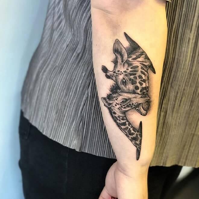 Arm Giraffe Tattoo