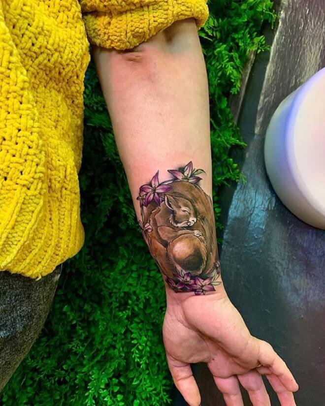 Arm Squirrel Tattoo
