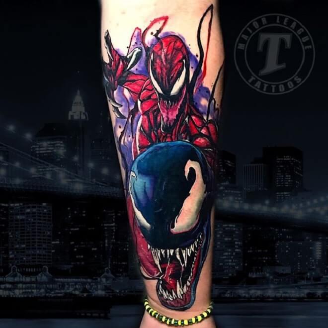 Arm Venom Tattoo